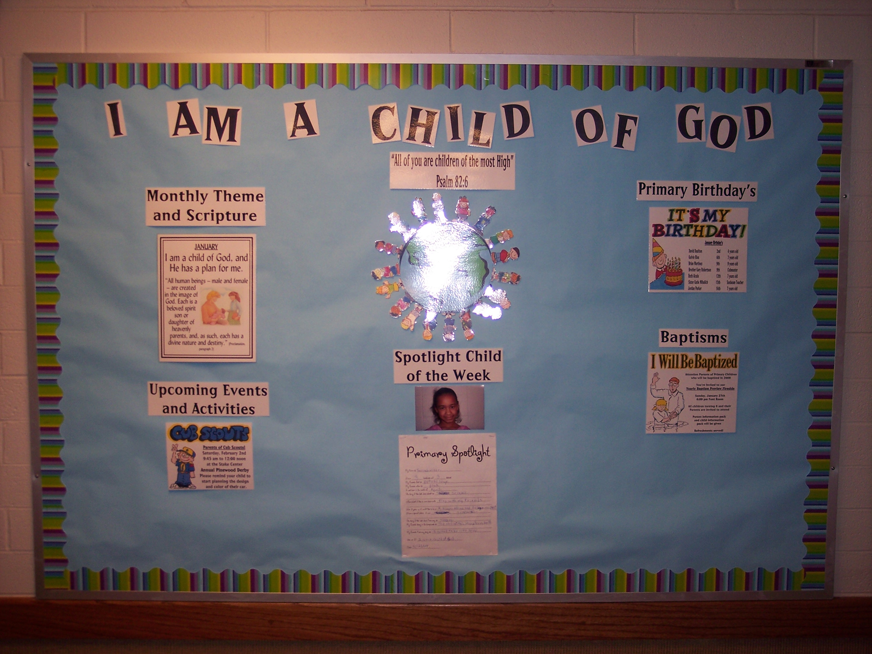 am a child of God - Bulletin Board