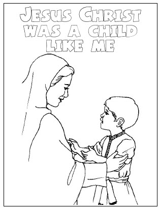 Jesus Was A Child Like Me Coloring Page