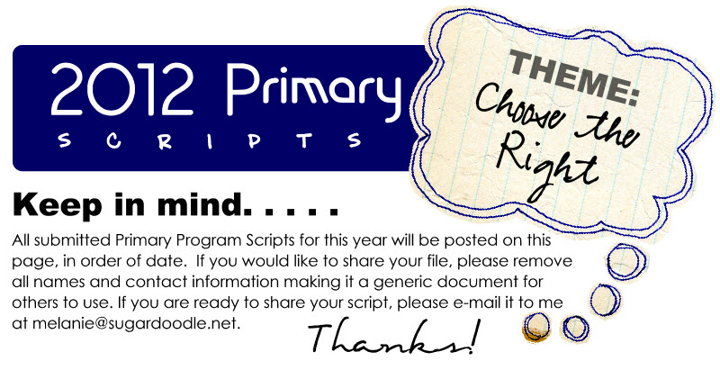 2012 Primary Program Scripts