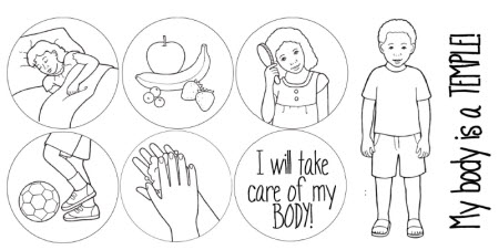 Your Body Is The Temple Of God Free Coloring Pages