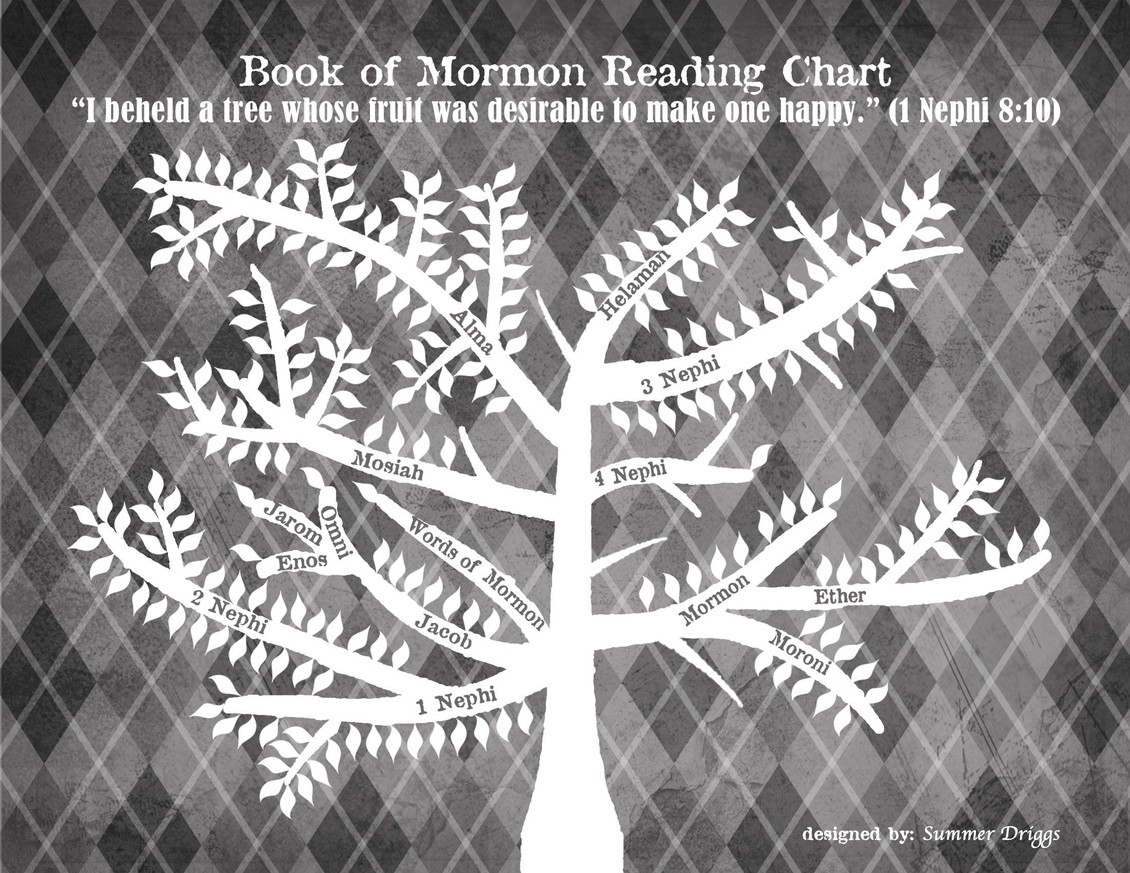 Lds Coloring Pages Pdf : Book of mormon reading chart by summer