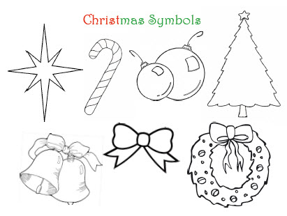 Christmas Symbols Drawings Merry Christmas And Happy New Year 2018