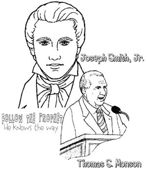 Follow the prophet he knows the way for Thomas s monson coloring page
