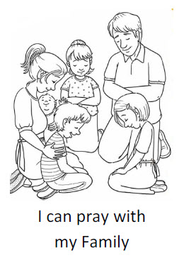 I can pray with my family Coloring Sheet