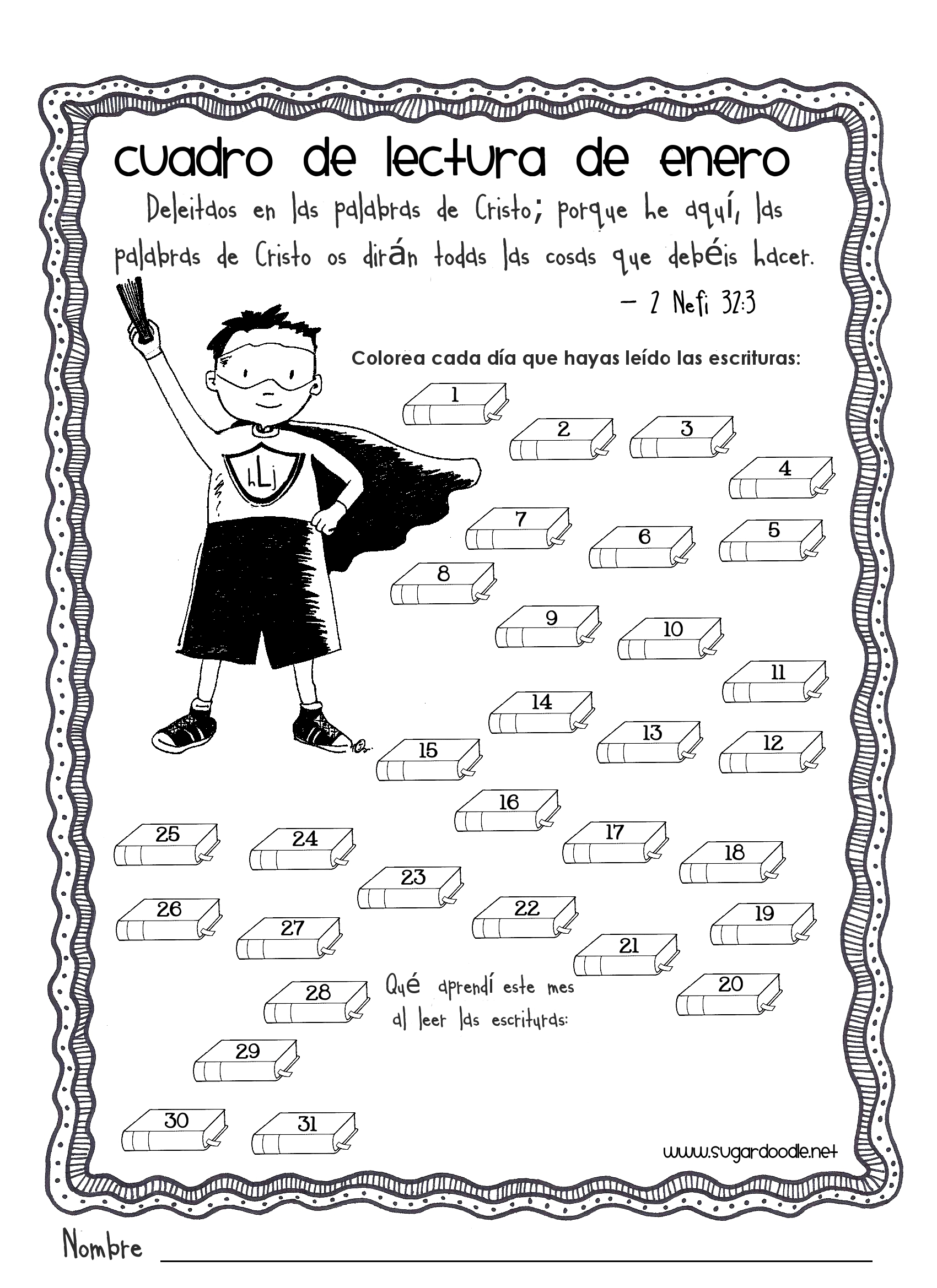 2011 Scripture Reading Charts for Primary