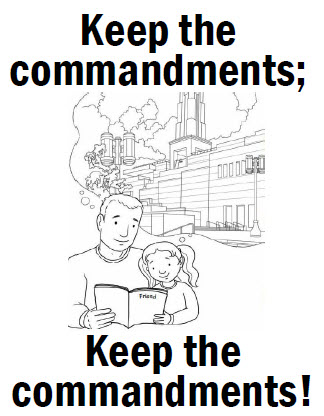 keep the commandments coloring page keep the commandments flipchart