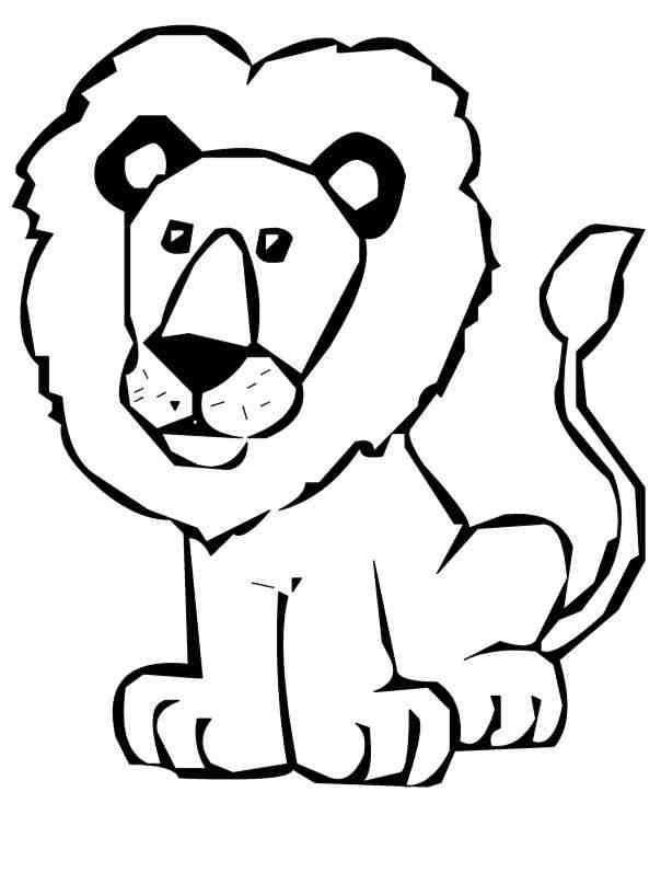 Black and white lion clip art - photo#22