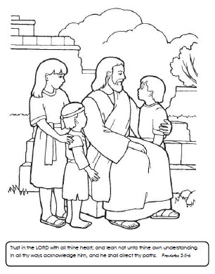 Trust in the Lord (coloring page)