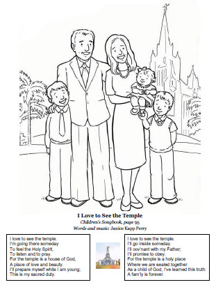 I love to see the temple coloring page