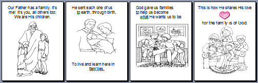 The Family Is Of God Flipchart
