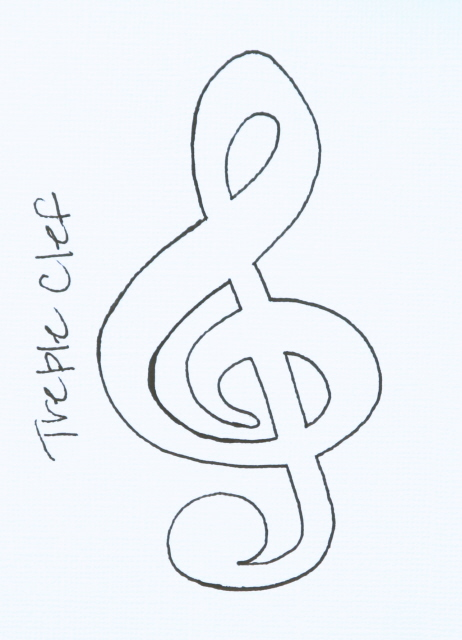 Free Coloring Pages Of Clef Treble Clef Coloring Page