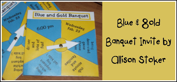 Blue and Gold Banquet Invitations Templates