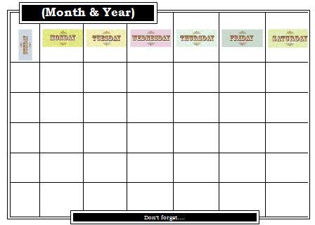 Editable Calendar - Academic Calendar