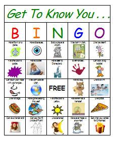 Get-to-know you BINGO cards