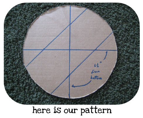 7 inch diameter circle template - how to make a five gallon bucket stove