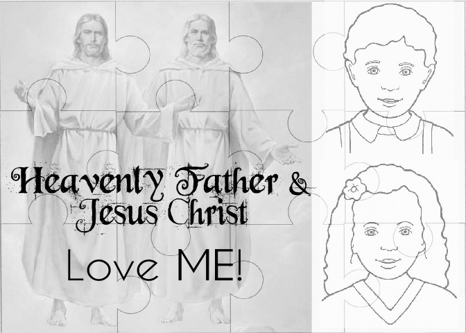 Jesus Christ And Heavenly Father Love Me Puzzle Pdf Have The Children Color