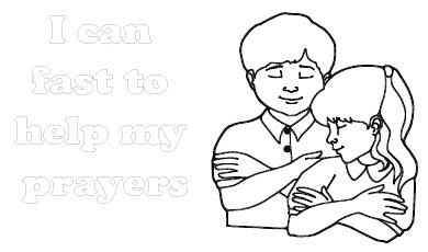 Lds Prayer Coloring Page Mesmerizing I Can Fast Coloring Sheet