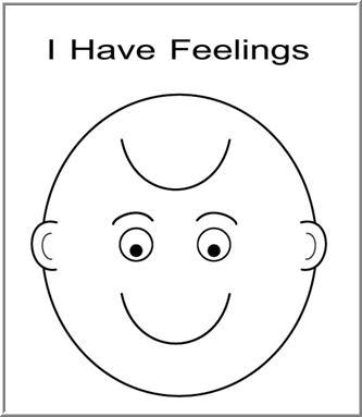 I have feelings coloring sheet