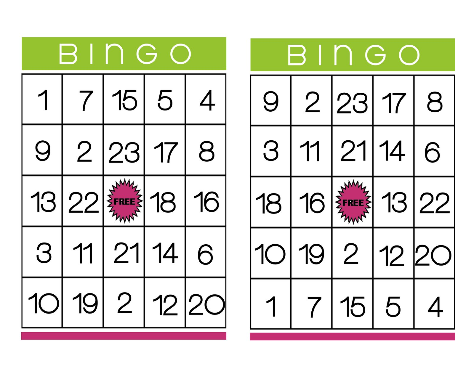 Bingo Cards | New Calendar Template Site