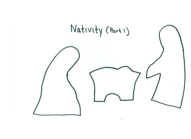 Nativity Template I didn't realize the pattern was so small! here is ...