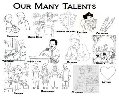 Our Many Talents Coloring Sheet