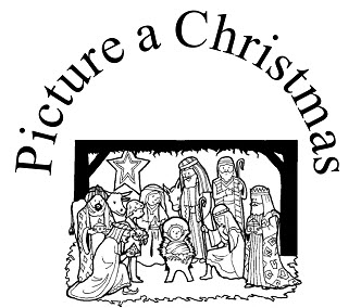 Picture a Christmas Flipchart/Coloring Book