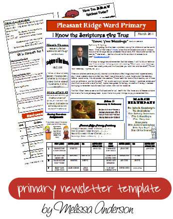 primary newsletter template