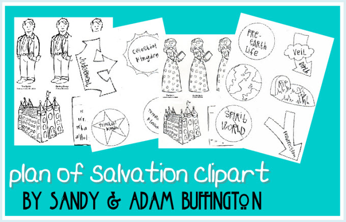 Black and White) Plan of Salvation Clipart