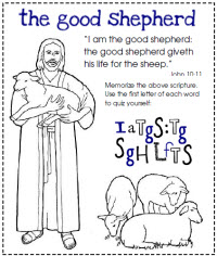 primary 7 lesson cards - Jesus The Good Shepherd Coloring Pages