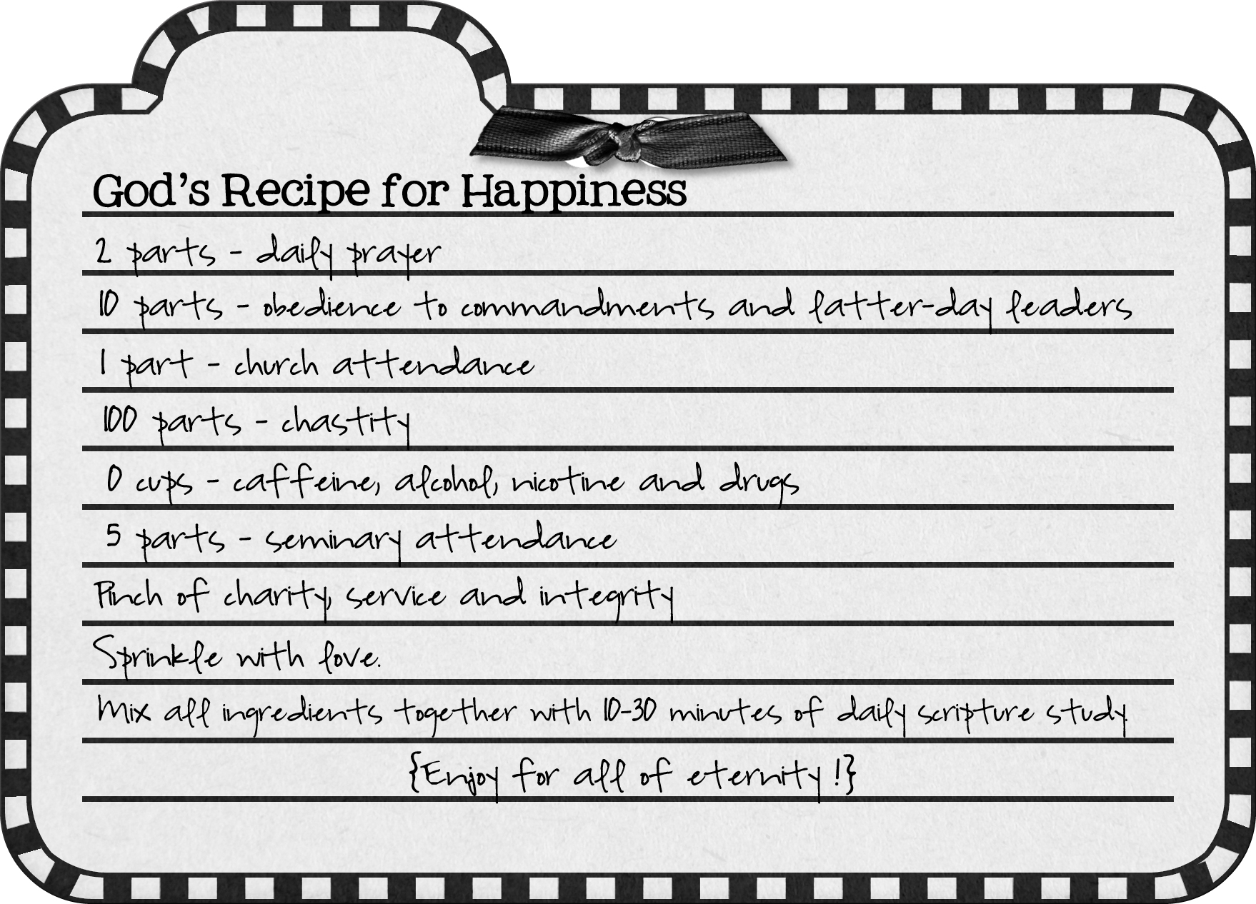 Is there a recipe for happiness 6