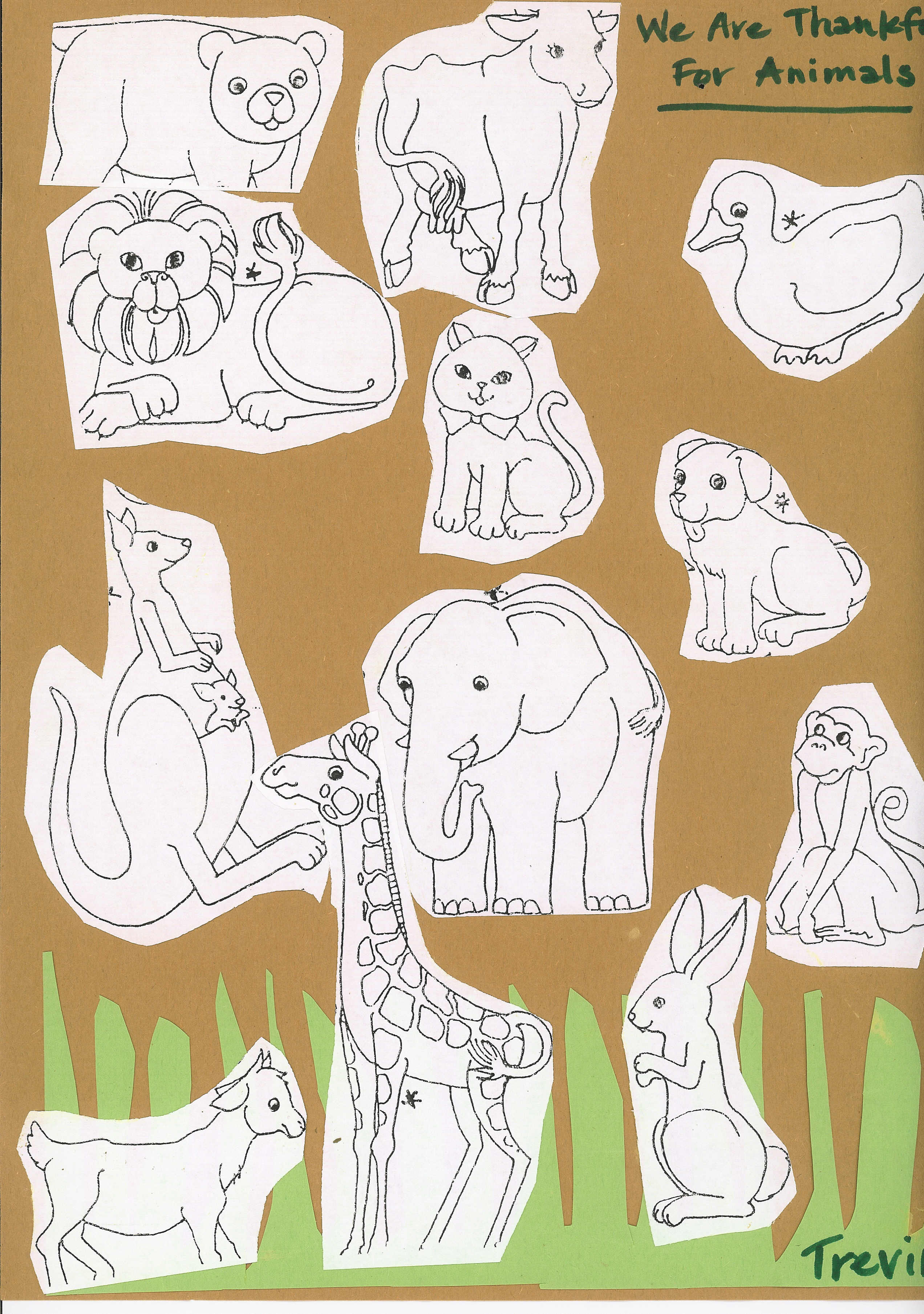 i am thankful for animals coloring pages - photo #14