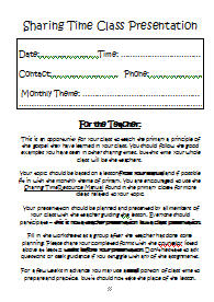 Class Presentation Outline