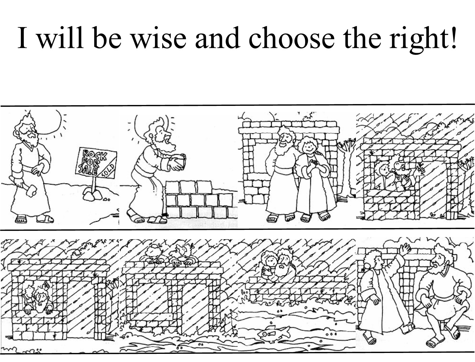 wise man foolish man coloring page the wise and foolish man coloring sheets
